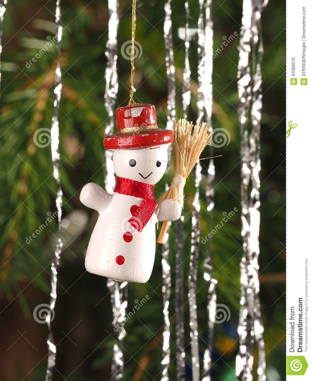 Hand Crafted Traditional Christmas Tree Decoration Snowman
