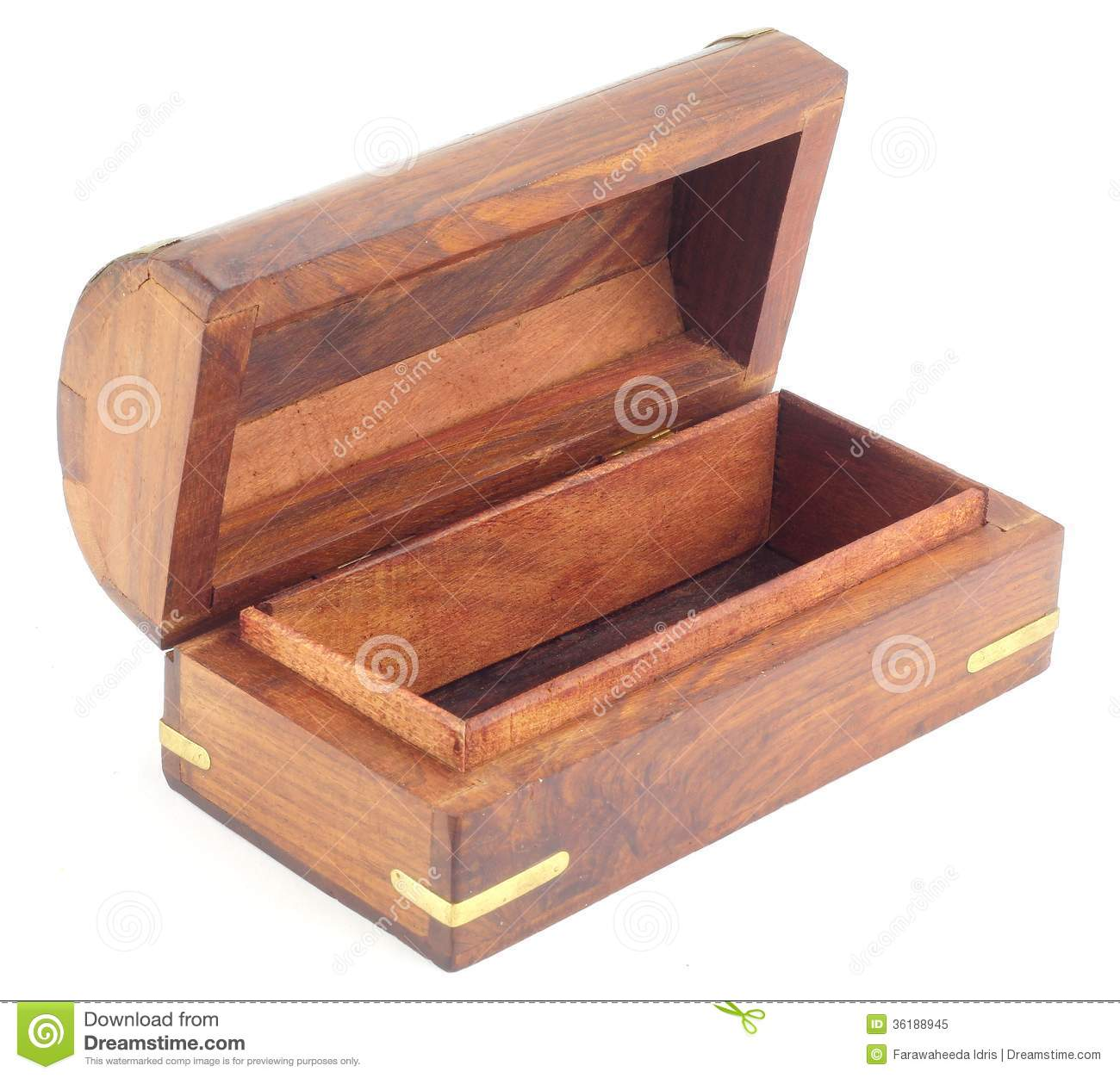 Hand crafted wooden treasure chests box royalty free stock for Handcrafted or hand crafted