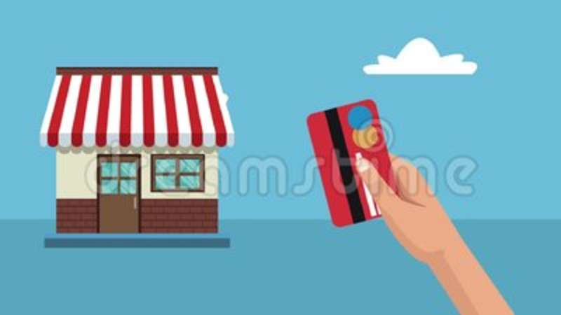 Shopping With Credit Card Hd Animation Stock Footage Video Of Small Local 116407302