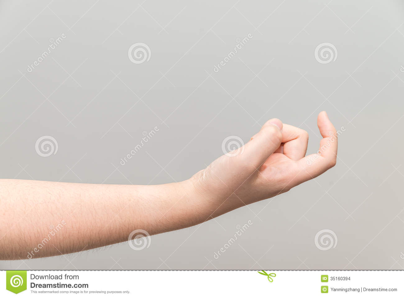 Hand With Curl Index Finger Stock Photo - Image of push, business ...