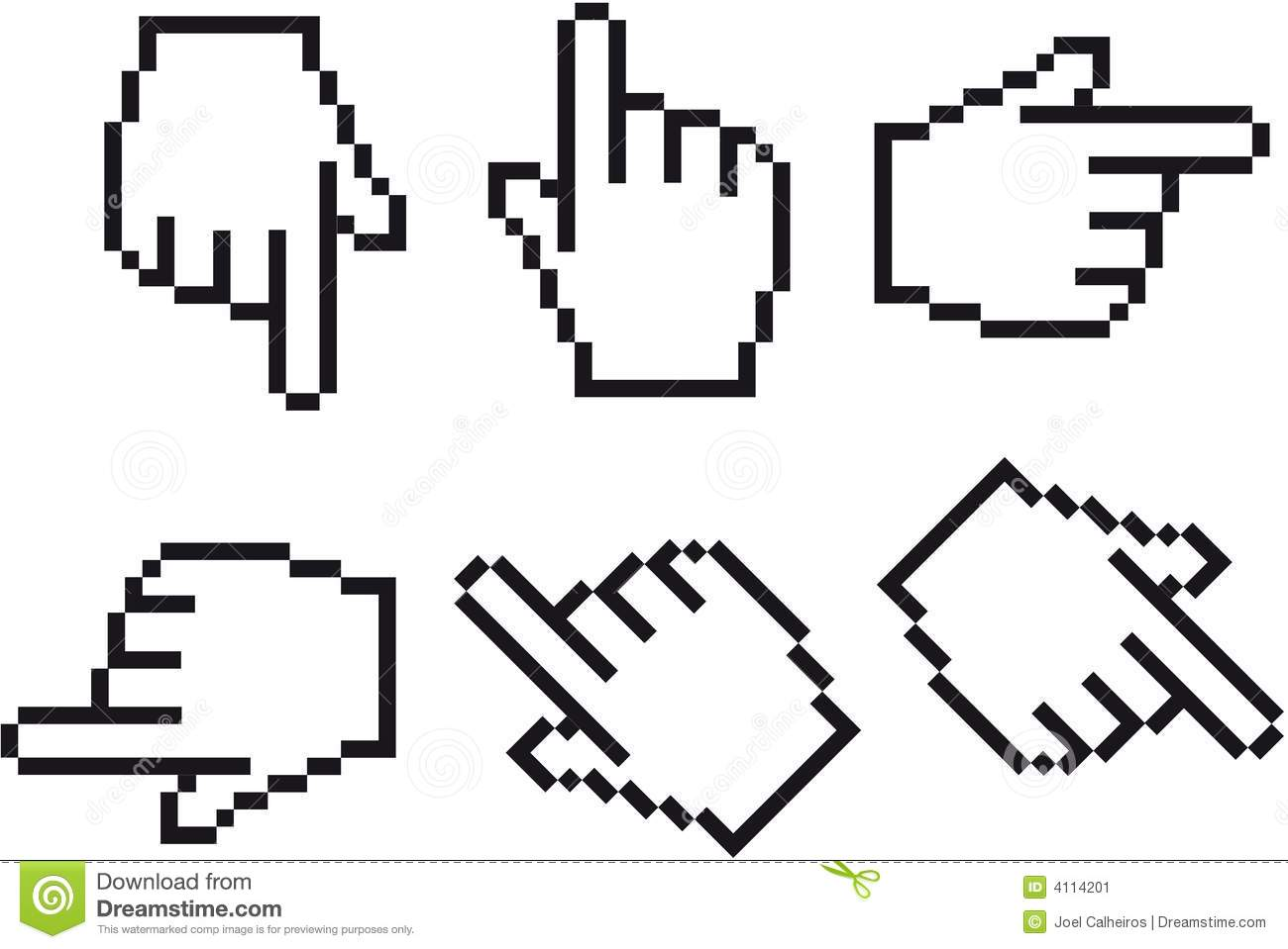 Open Hand Cursor Hand Cursor In Six Different