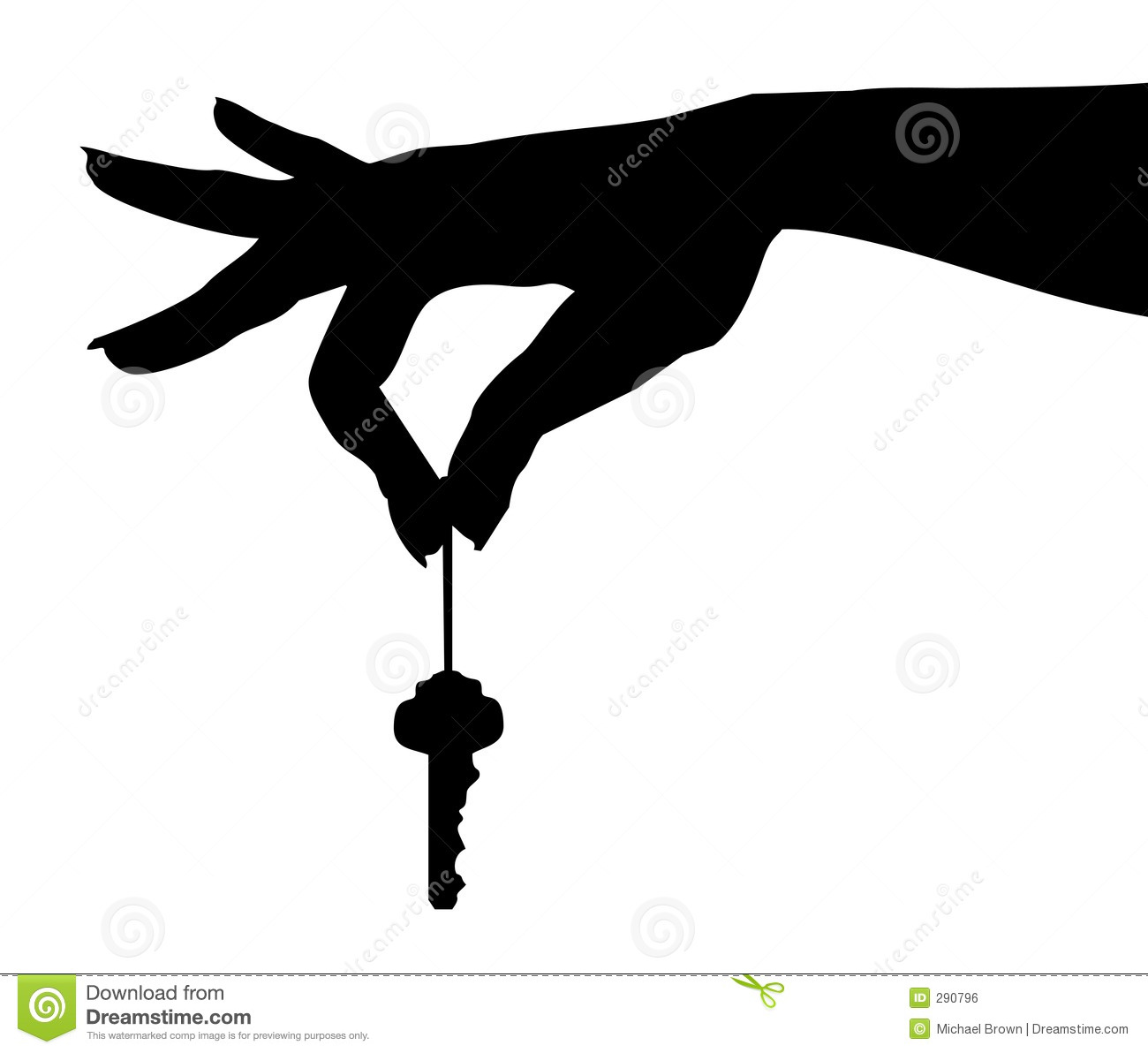 woman's hand dangling a key -clipping-path for removing key so ...