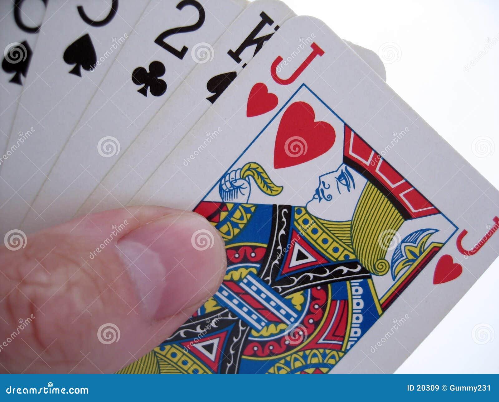 Hand der Karten