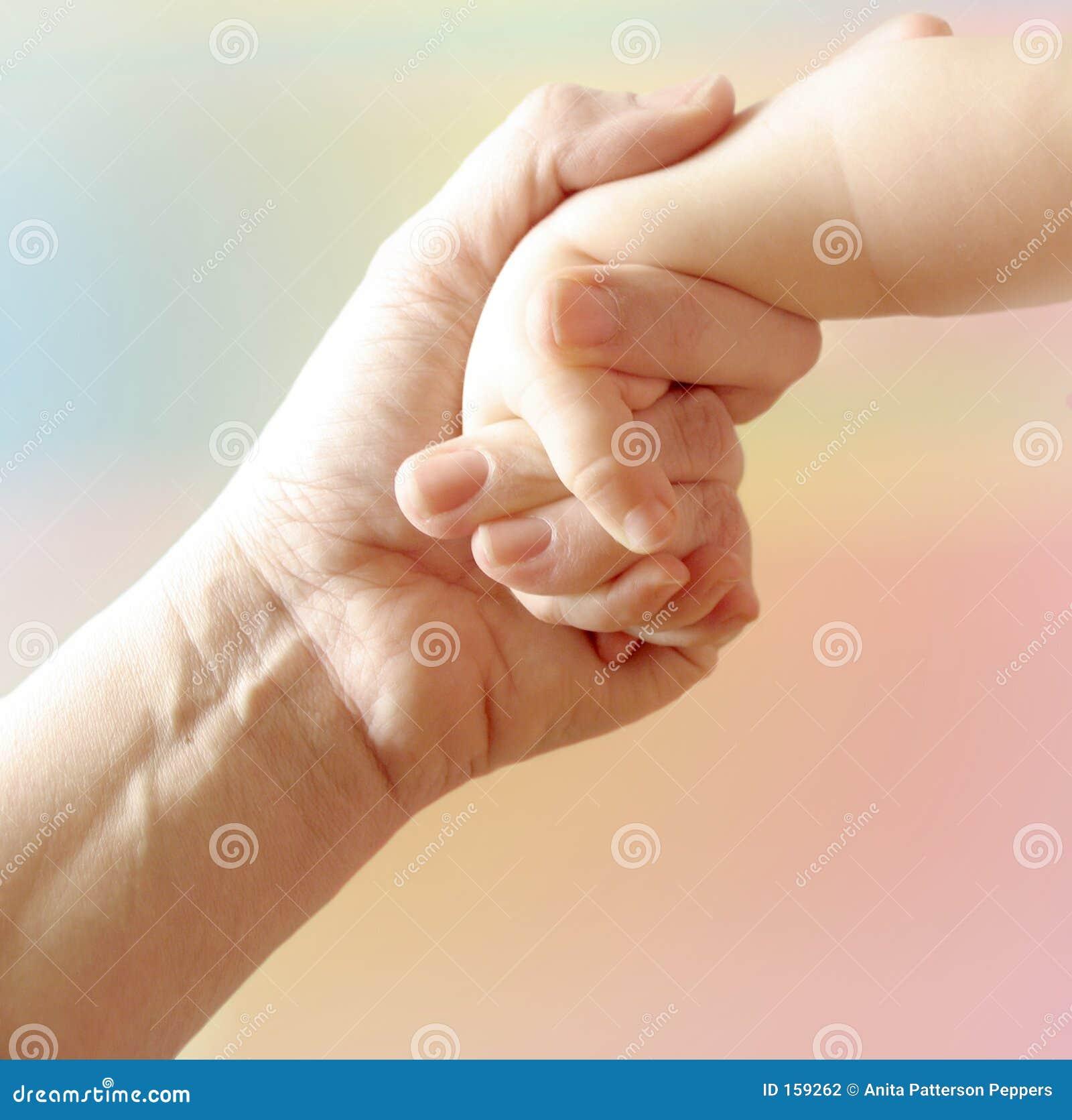 Hand des Mutter