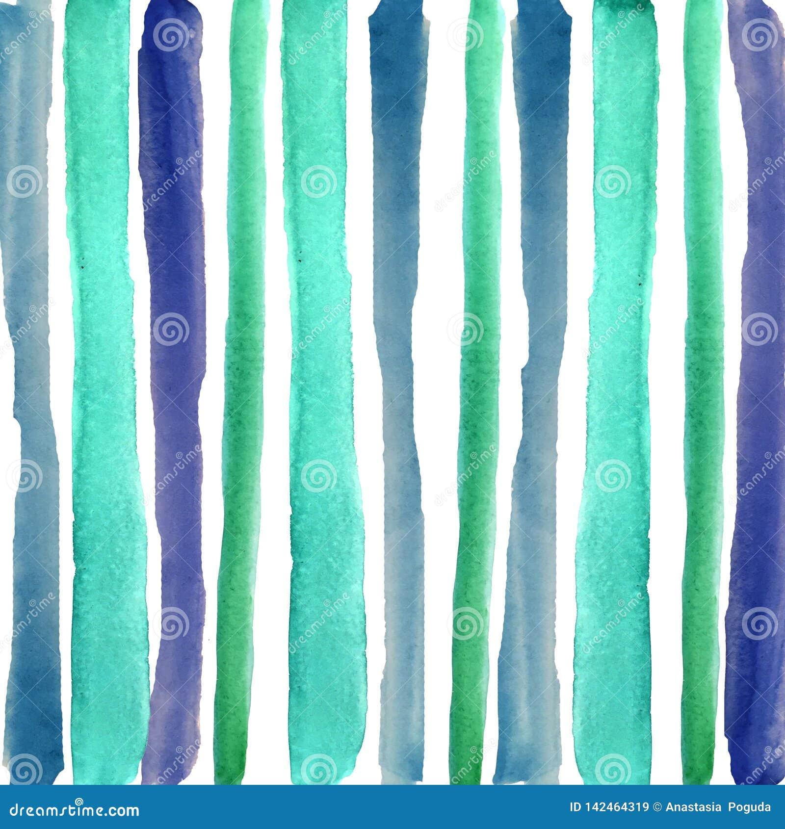 Hand, die blaue Streifen des Aquarells ertrinkt