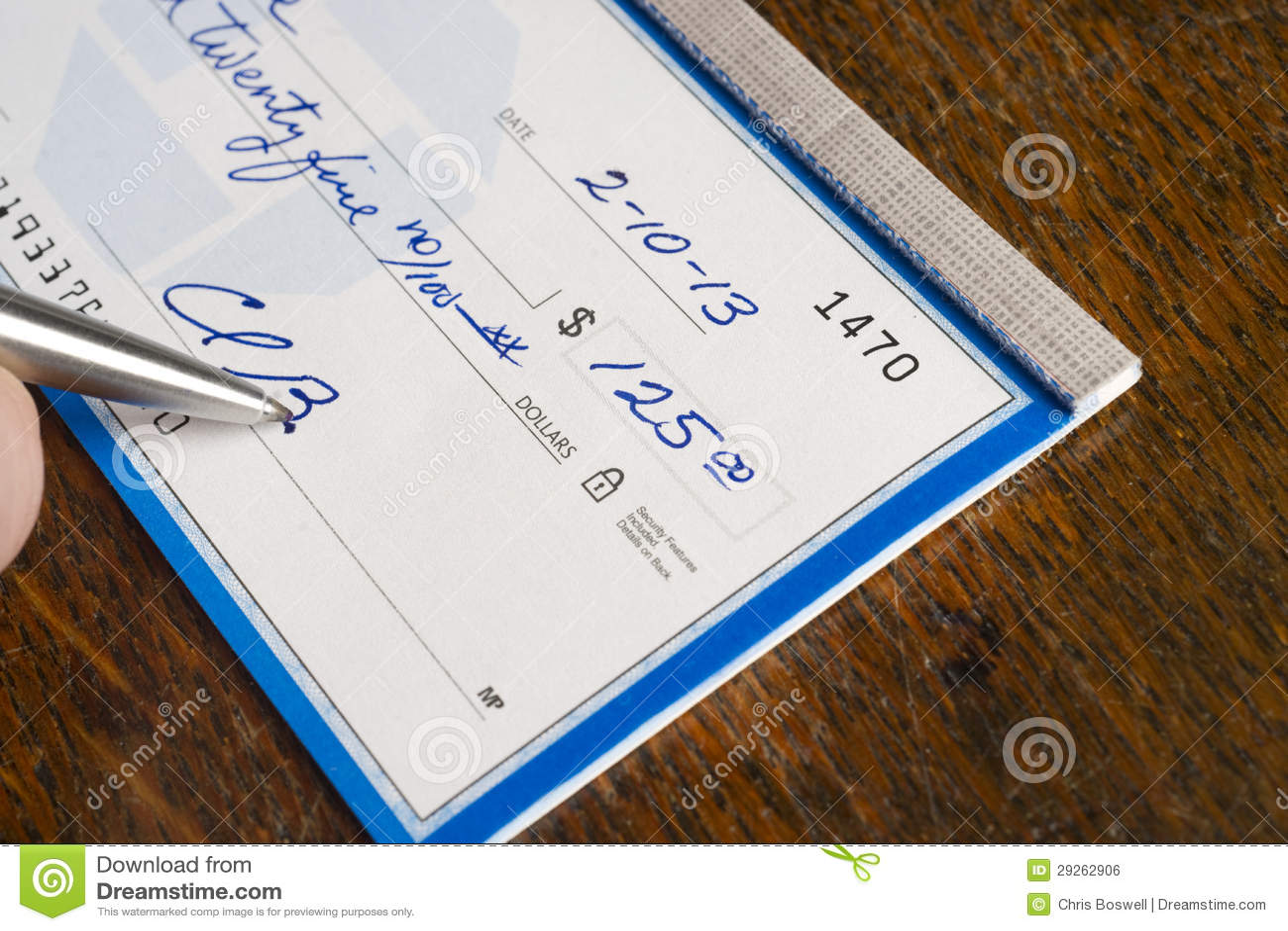 Hand die Controle bovenop Bureau ondertekenen