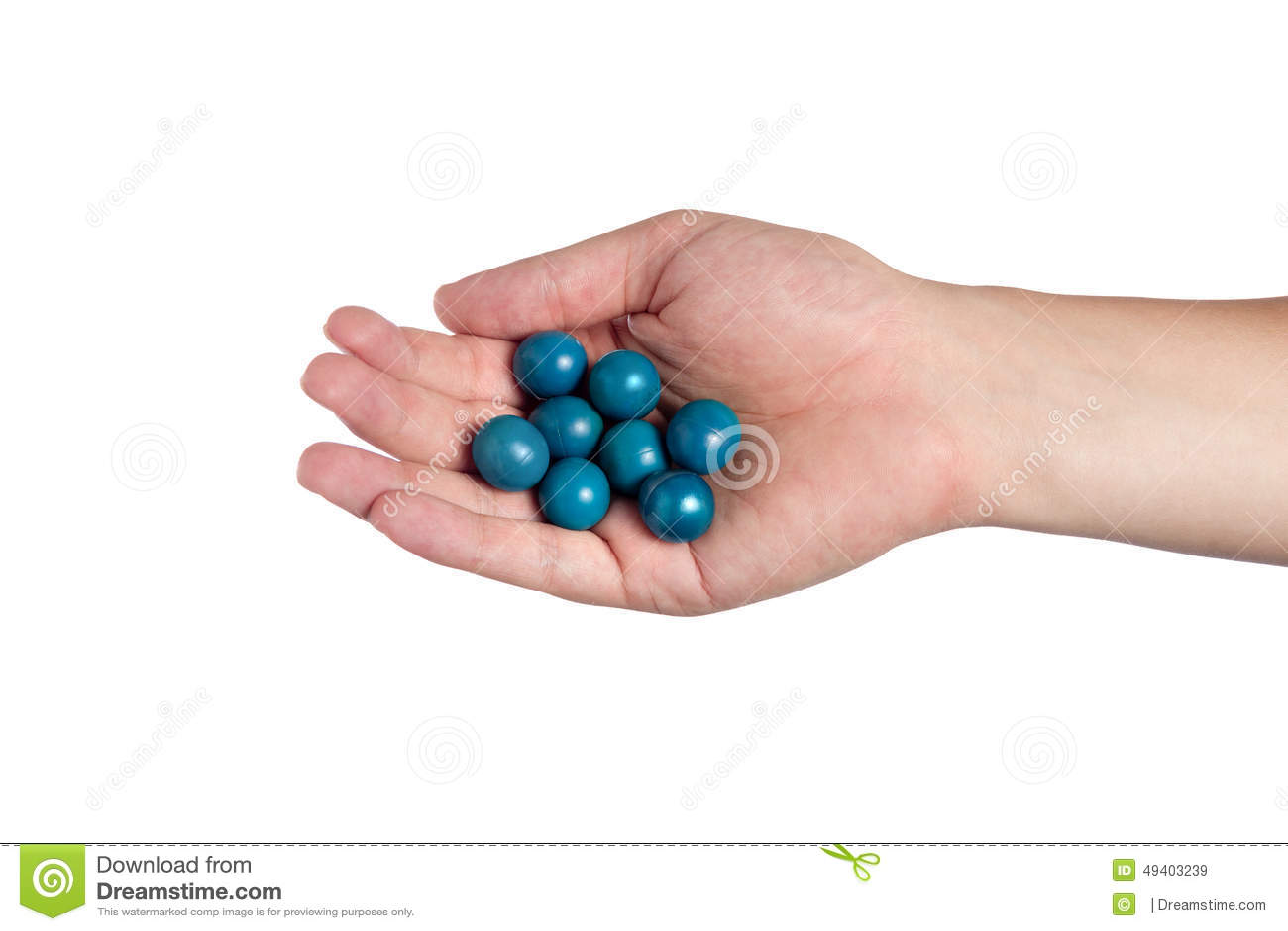 Download Hand, Die Farben-Bälle Hält Stockbild - Bild von pinball, lack: 49403239