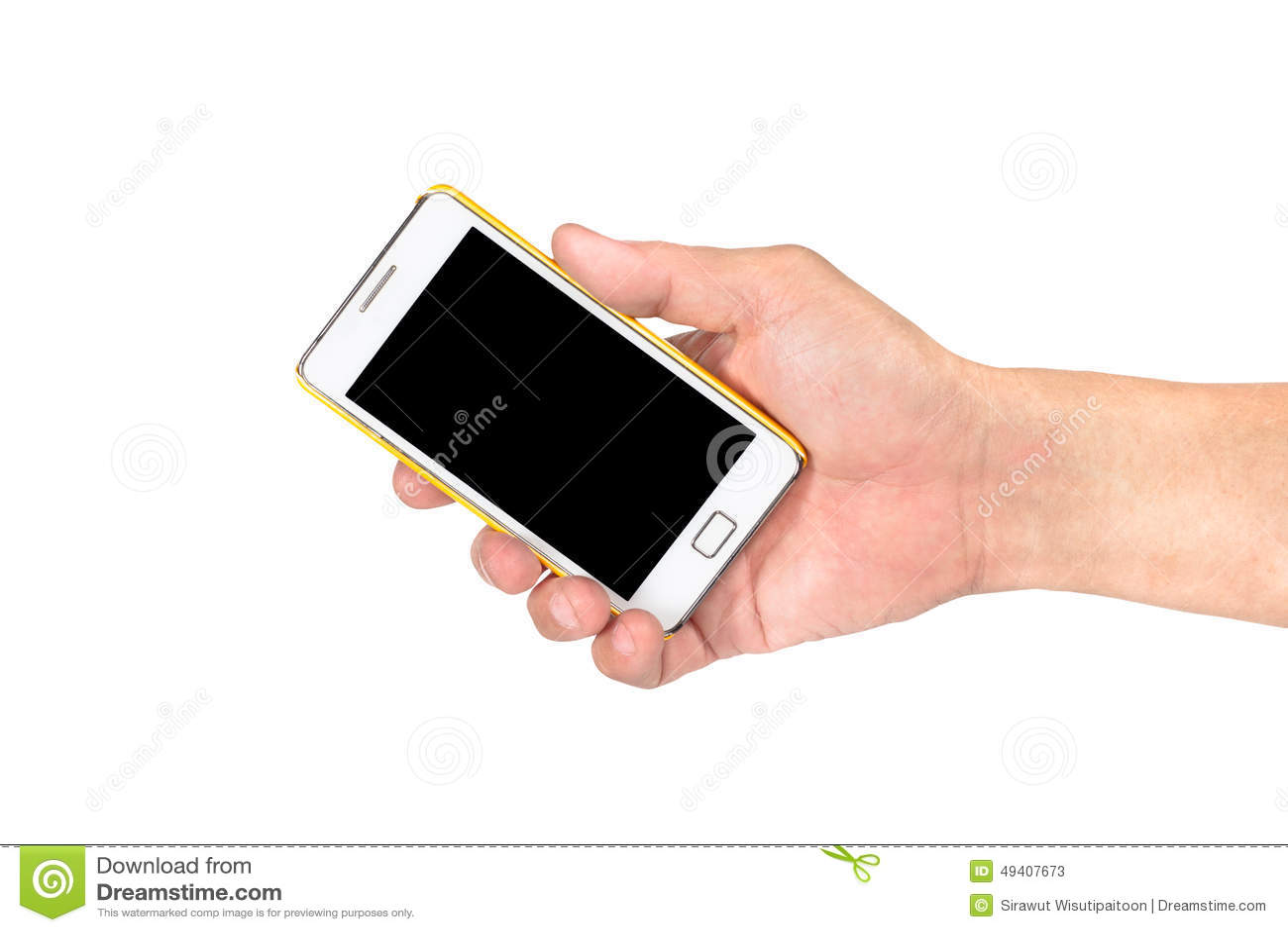 Download Hand, Die Intelligentes Mobiltelefon Lokalisiert Hält Stockbild - Bild von mann, beweglich: 49407673