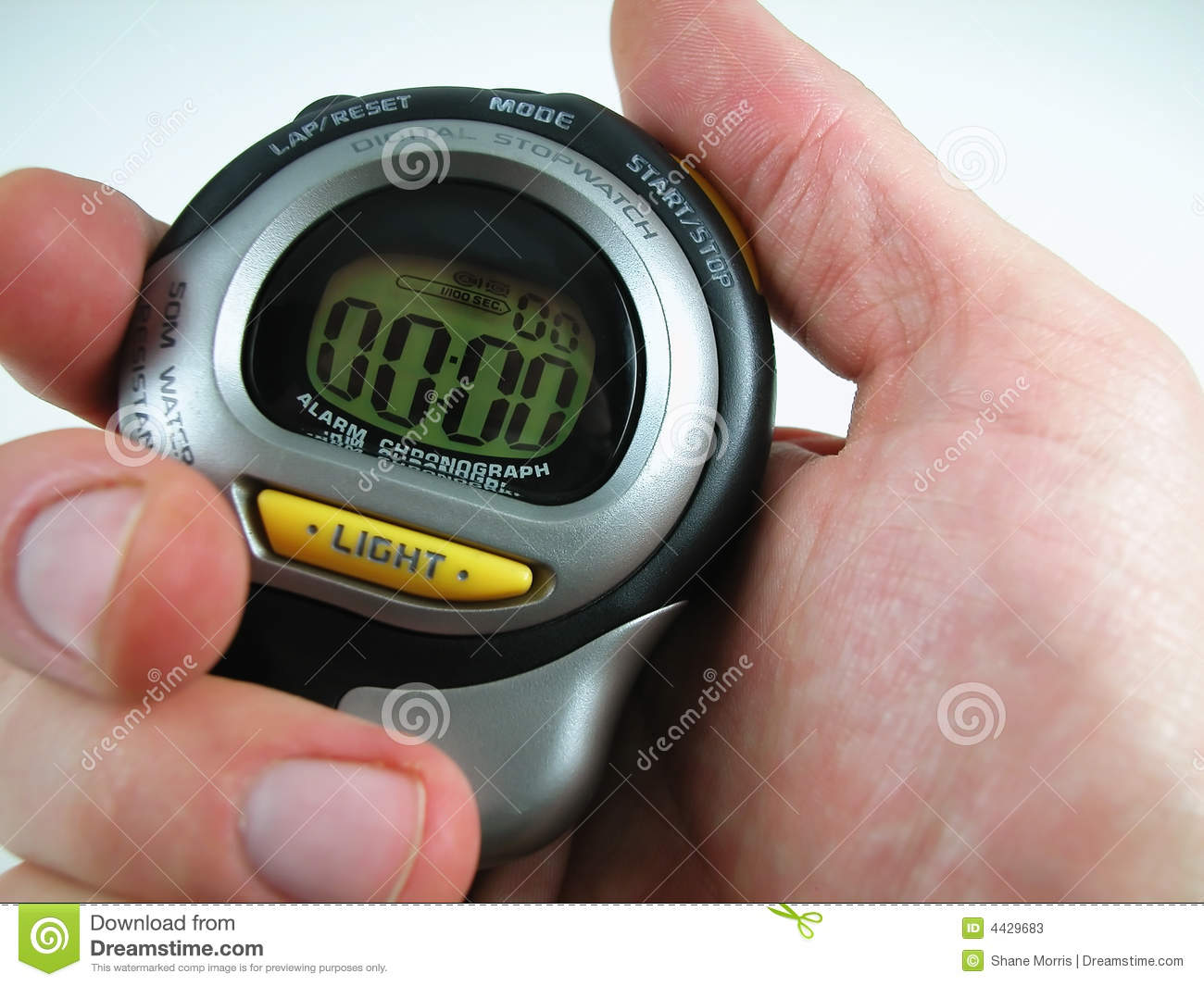 Hand with Digital Stop Watch