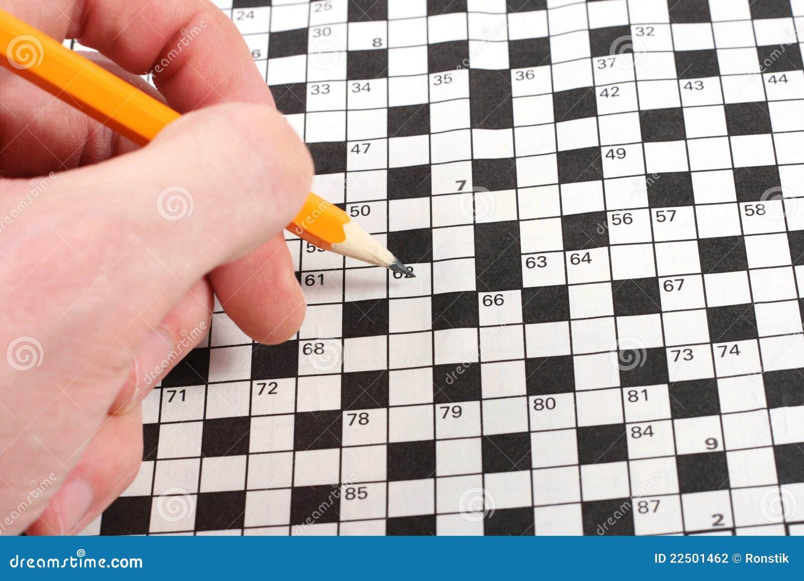 Hand Doing Crossword Stock Photography - Image: 22501462 - photo#41
