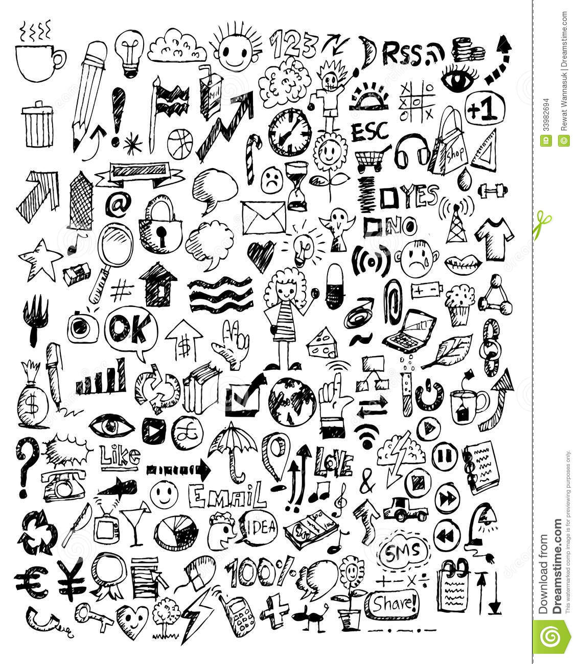 Hand Doodle Business Doodles Stock Images Image 33982694