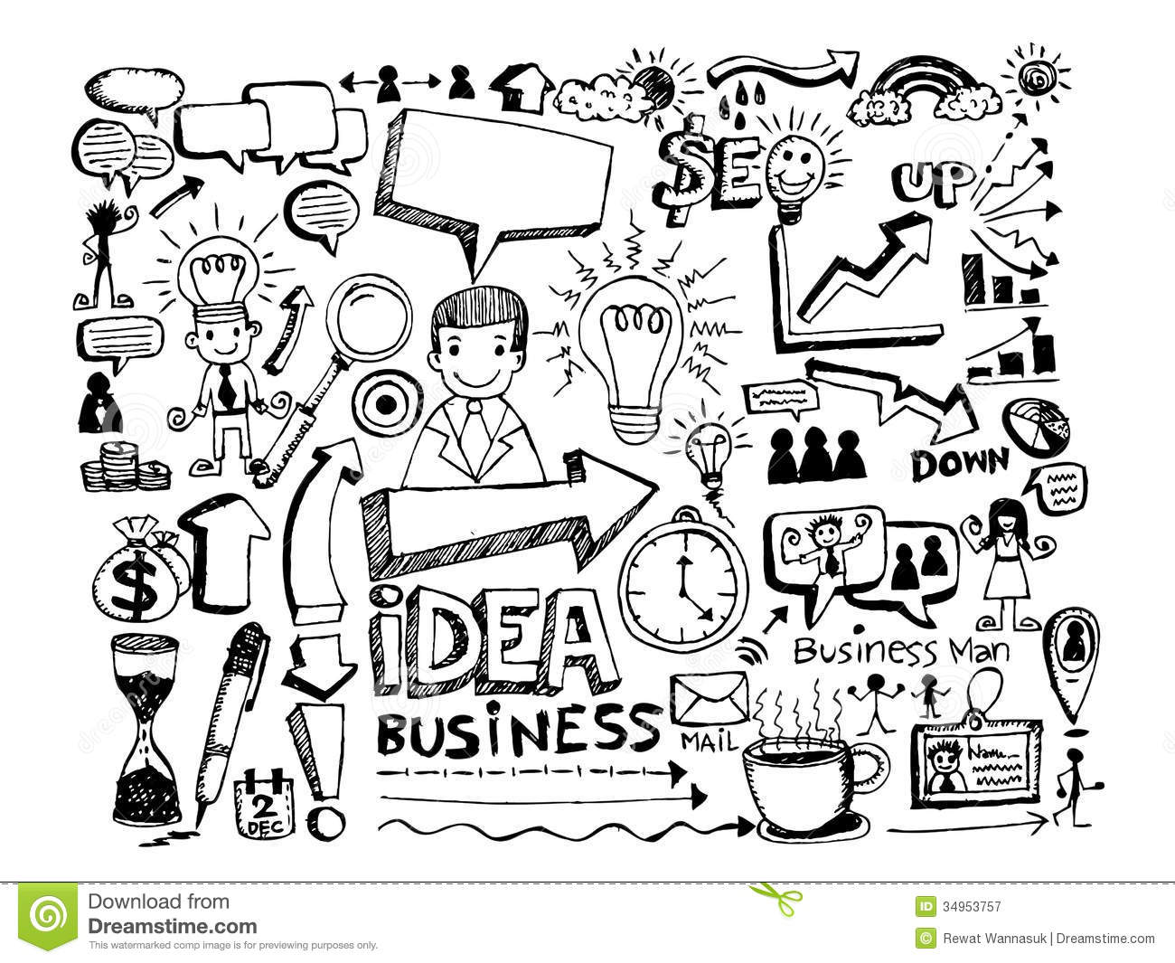 Hand Doodle Business Doodles Royalty Free Stock