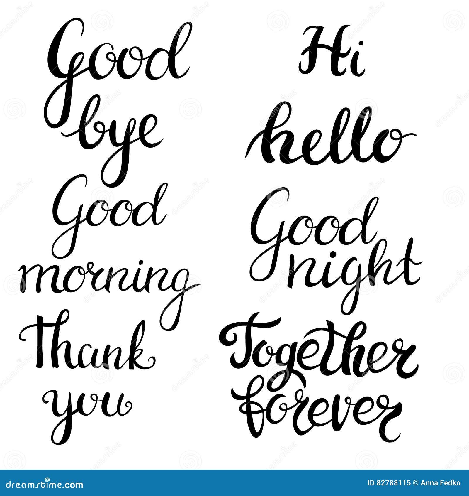 Hand dragen bokstäveruppsättning Modern kalligrafi Färgpulverillustration Planlägg för banret, affischen, kortet, inbjudan, rekla