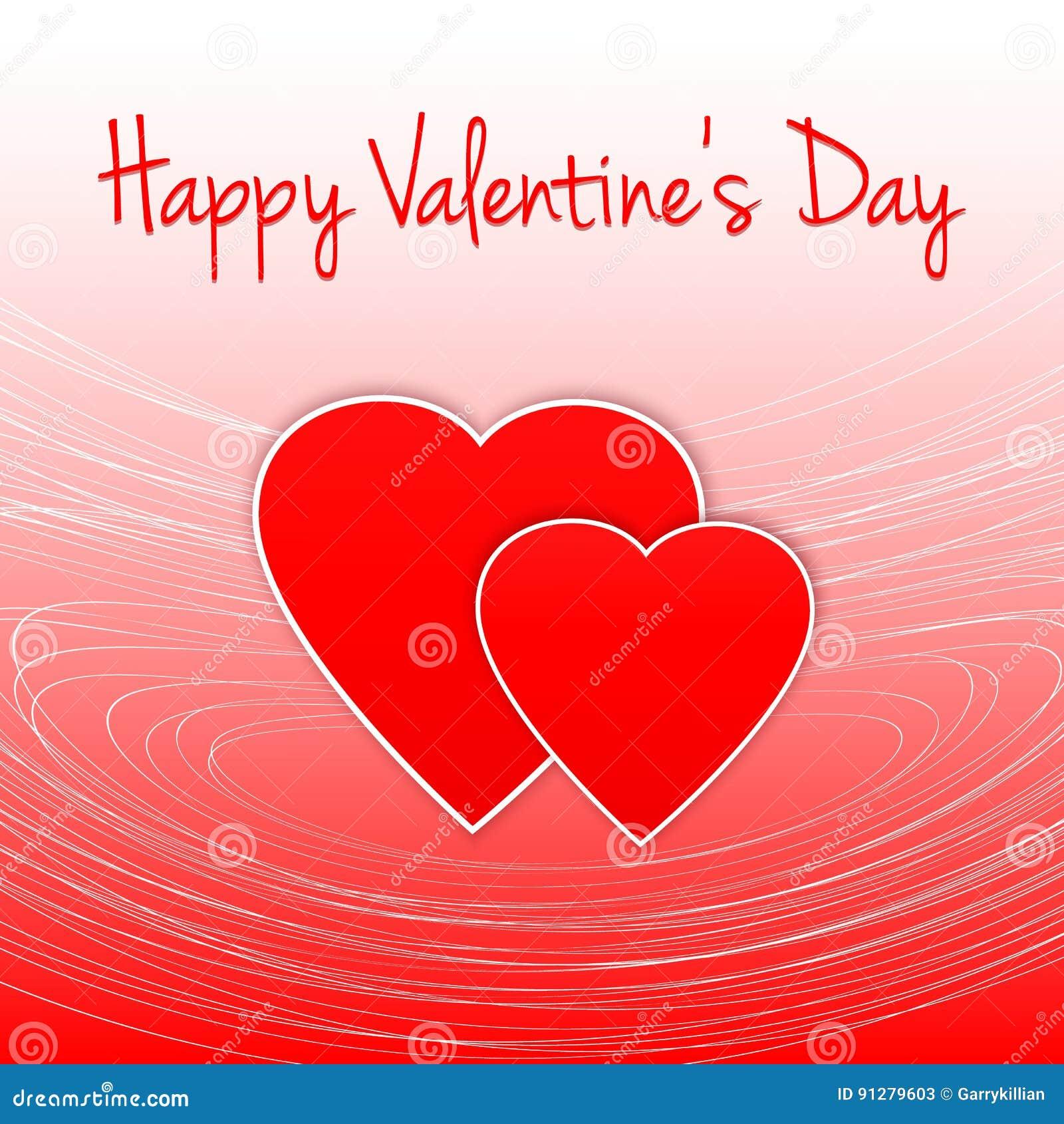 Hand dragen illustration lycklig s valentin för dag Hjärtakontur Elegant mall för din mjuka design