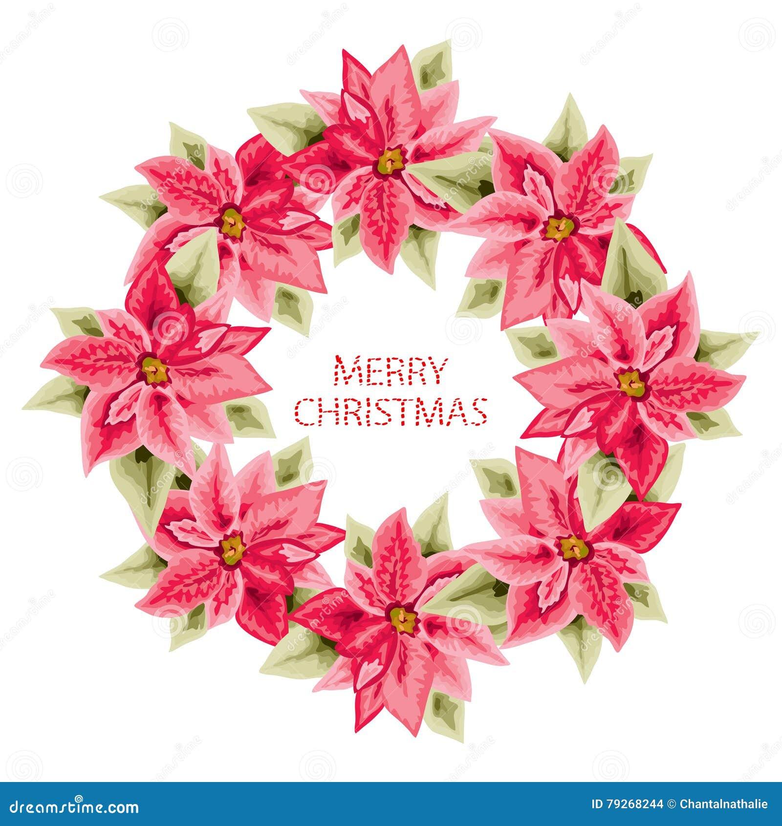 Hand dragen julstjärnaram