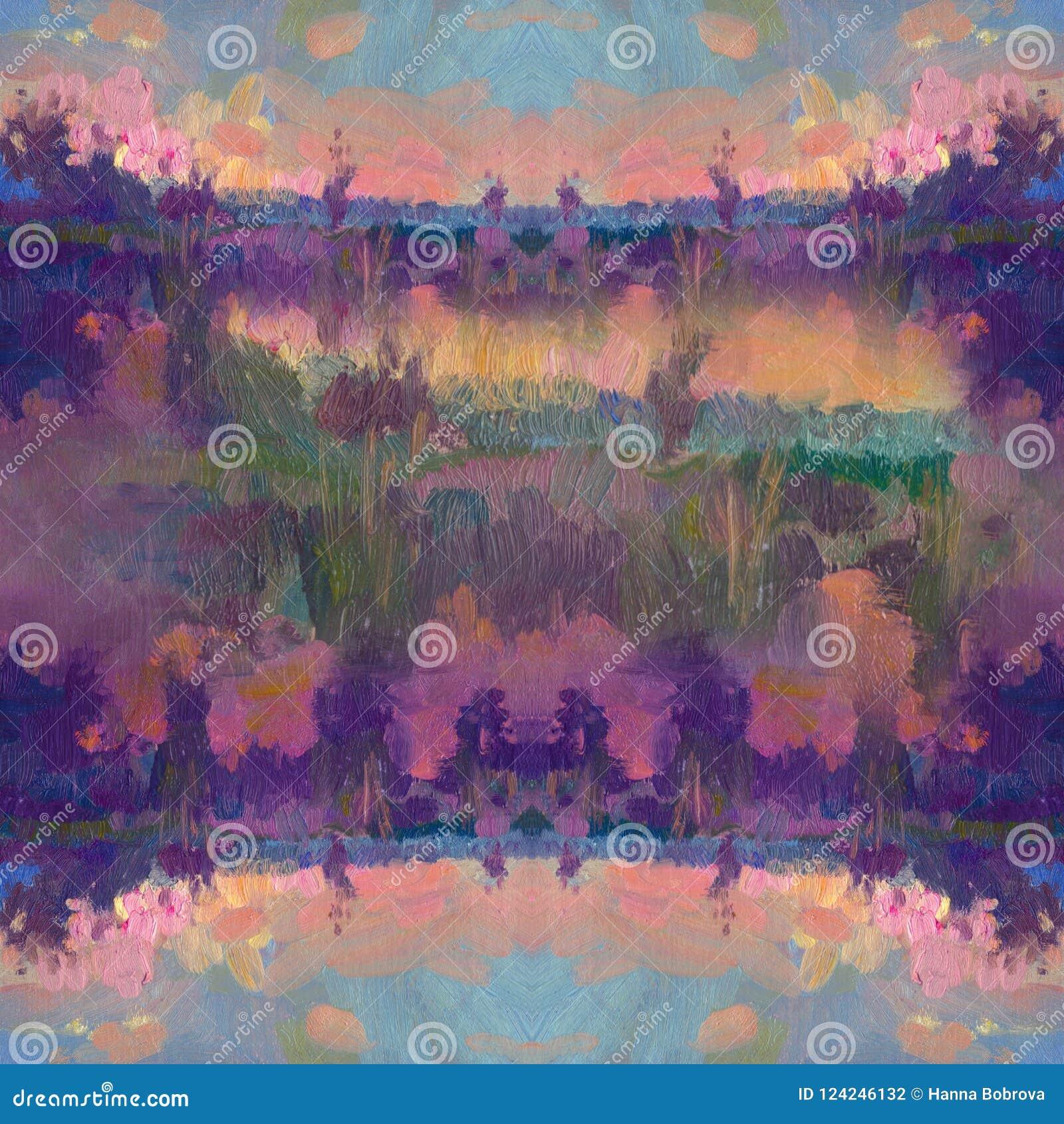 Hand dragen olje- målning abstrakt konstbakgrund Oljemålning på kanfas Färgtextur Fragment av konstverk Fläckar av