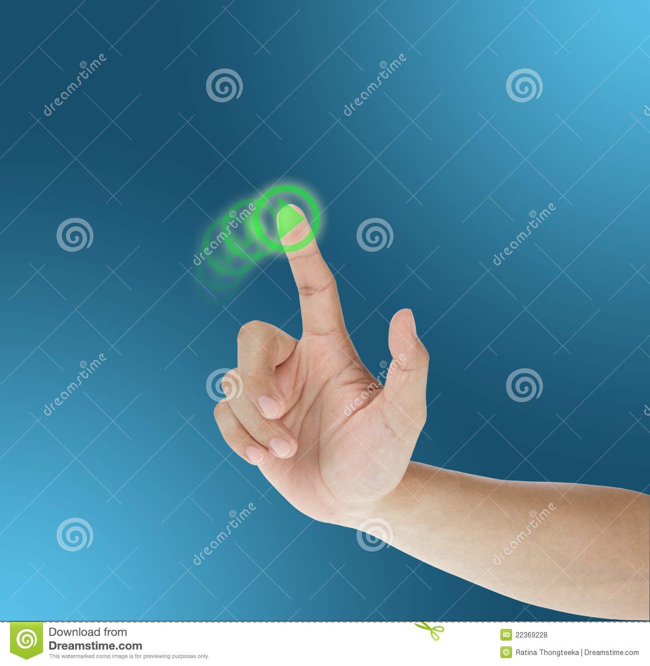 Hand dragging on touch screen