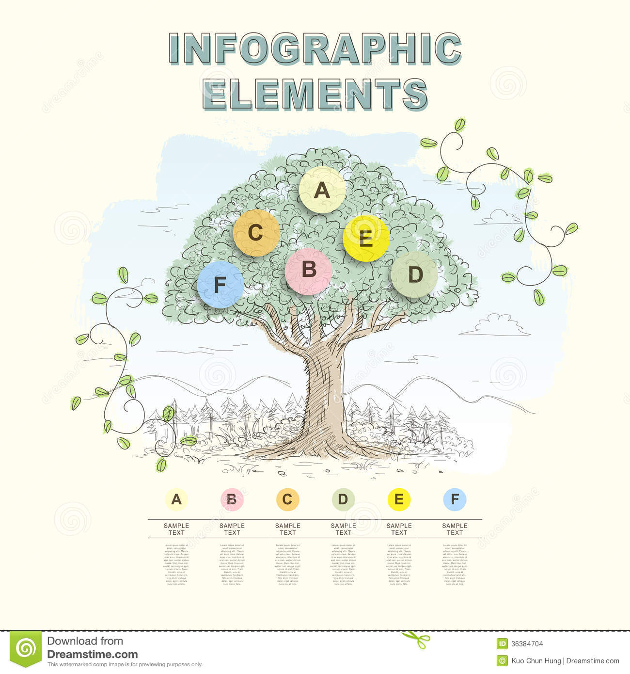 Hand Draw Abstract Tree Infographics Stock Vector ...