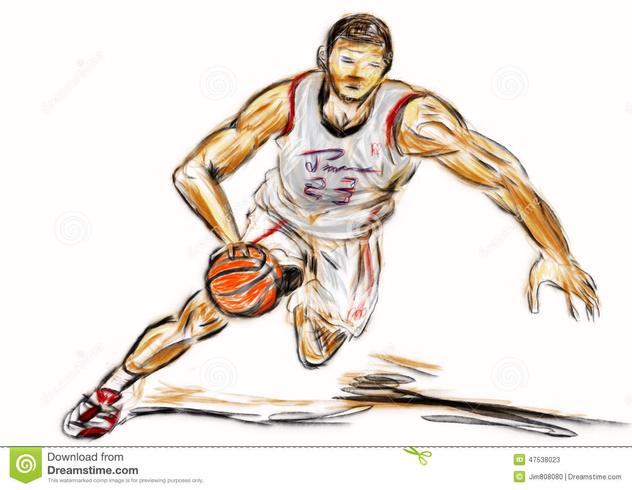 Uncategorized How To Draw A Basketball Player hand draw basketball player stock illustration image 47538023 royalty free download player