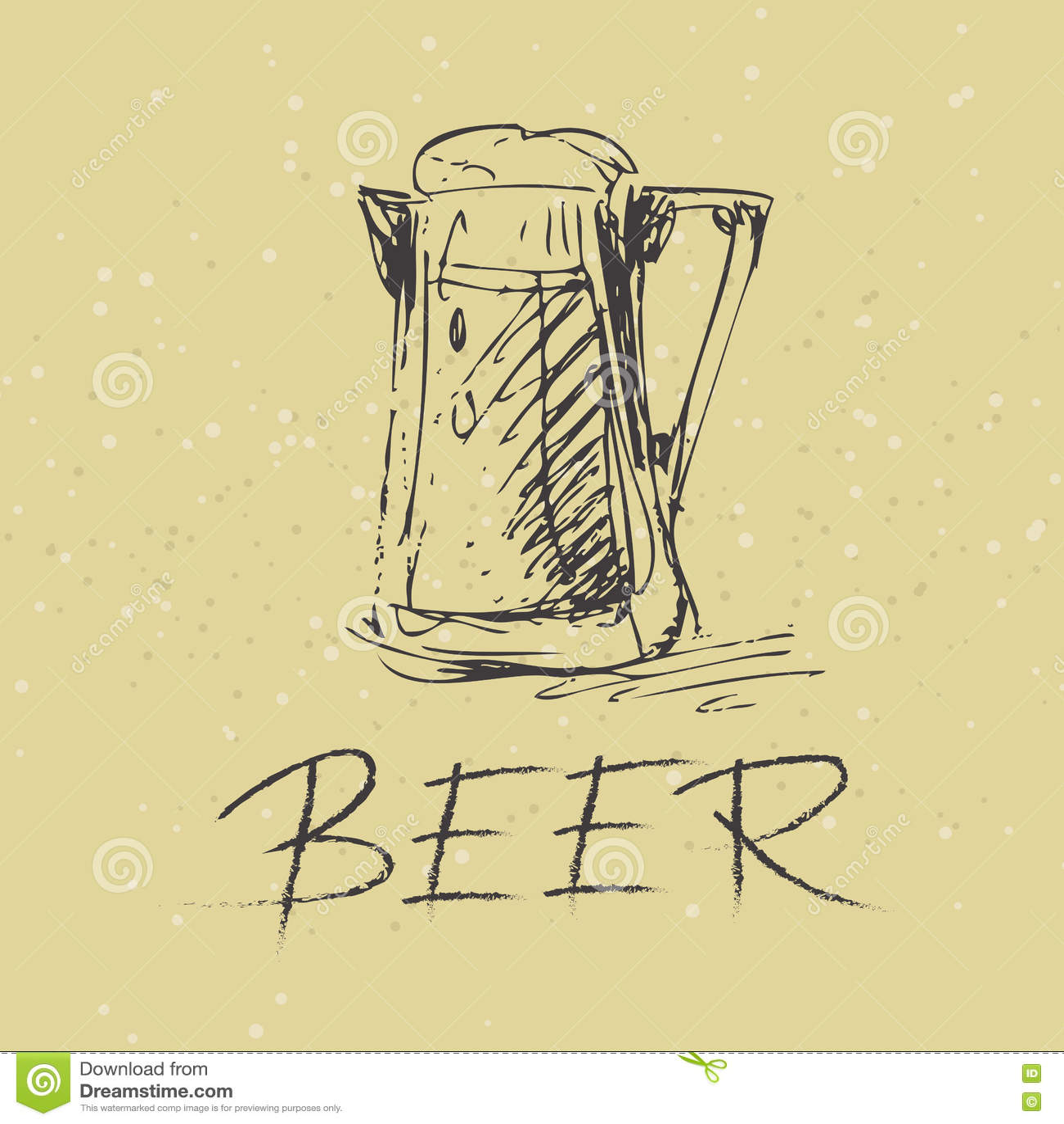 hand draw beer mug stock vector illustration of suds 78061750