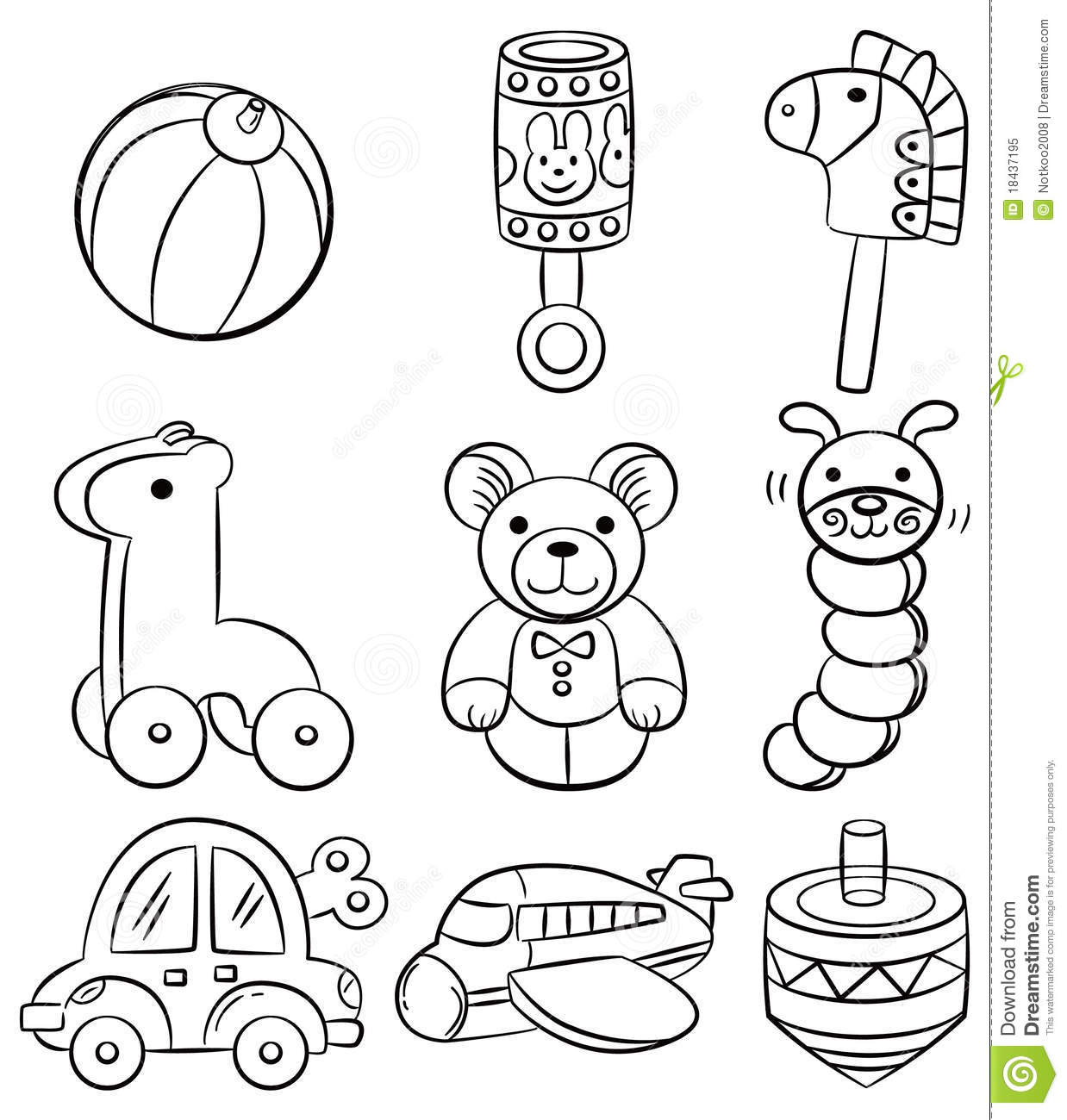 Boy Toys Drawing : Hand draw cartoon baby toy icon stock vector
