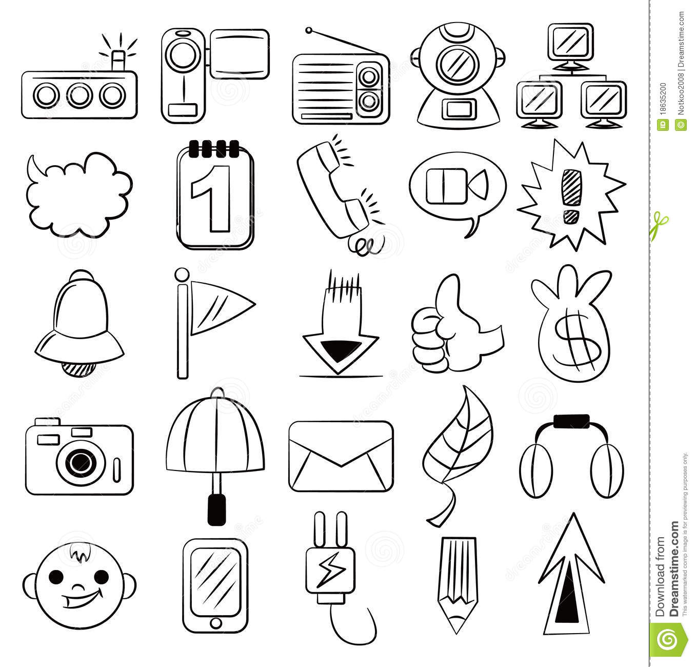 Hand draw cartoon web icon stock vector illustration of for How to draw websites for free