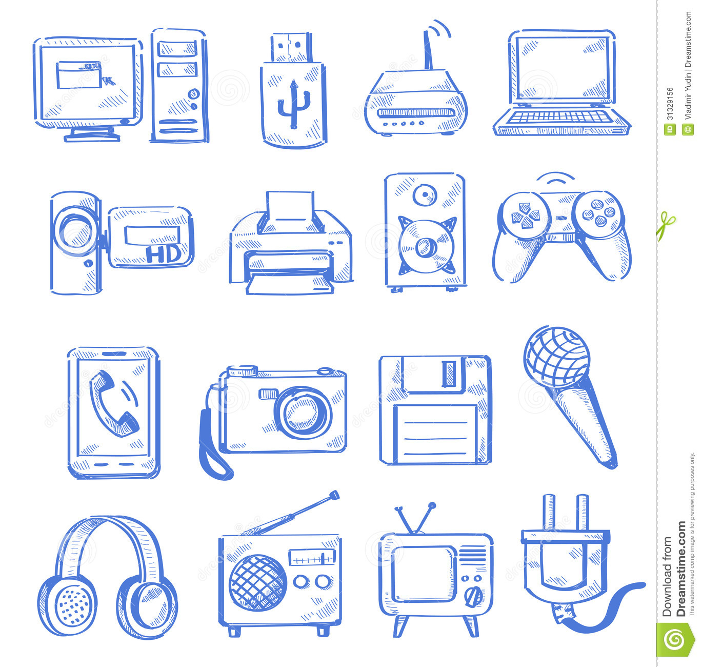 Hand draw electronic royalty free stock image image for Draw logo free