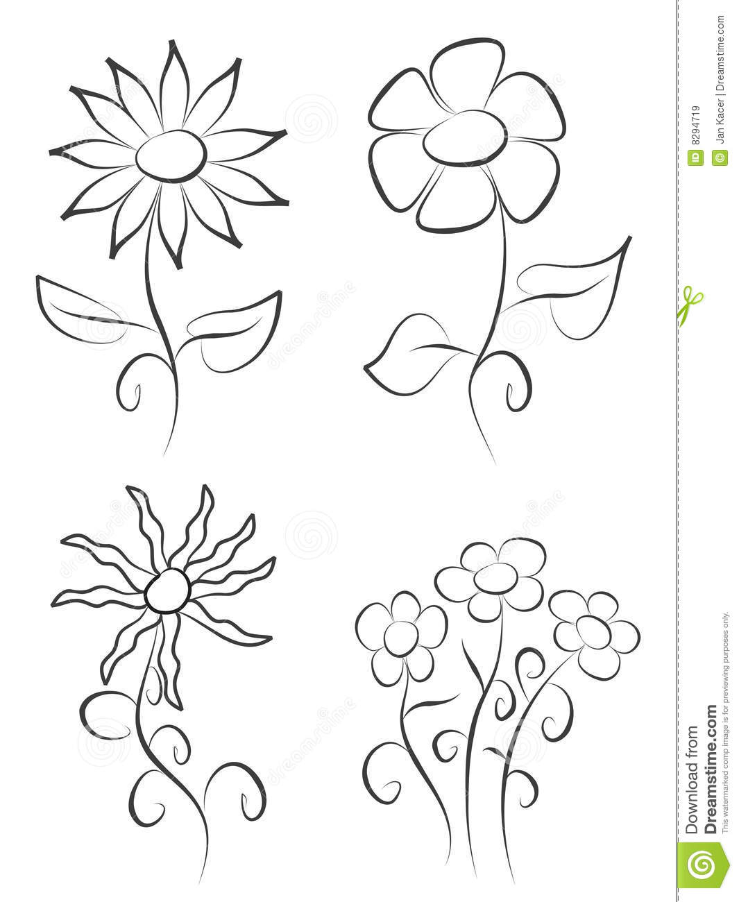 Hand Draw Flowers Stock Illustration Illustration Of Graphic 8294719