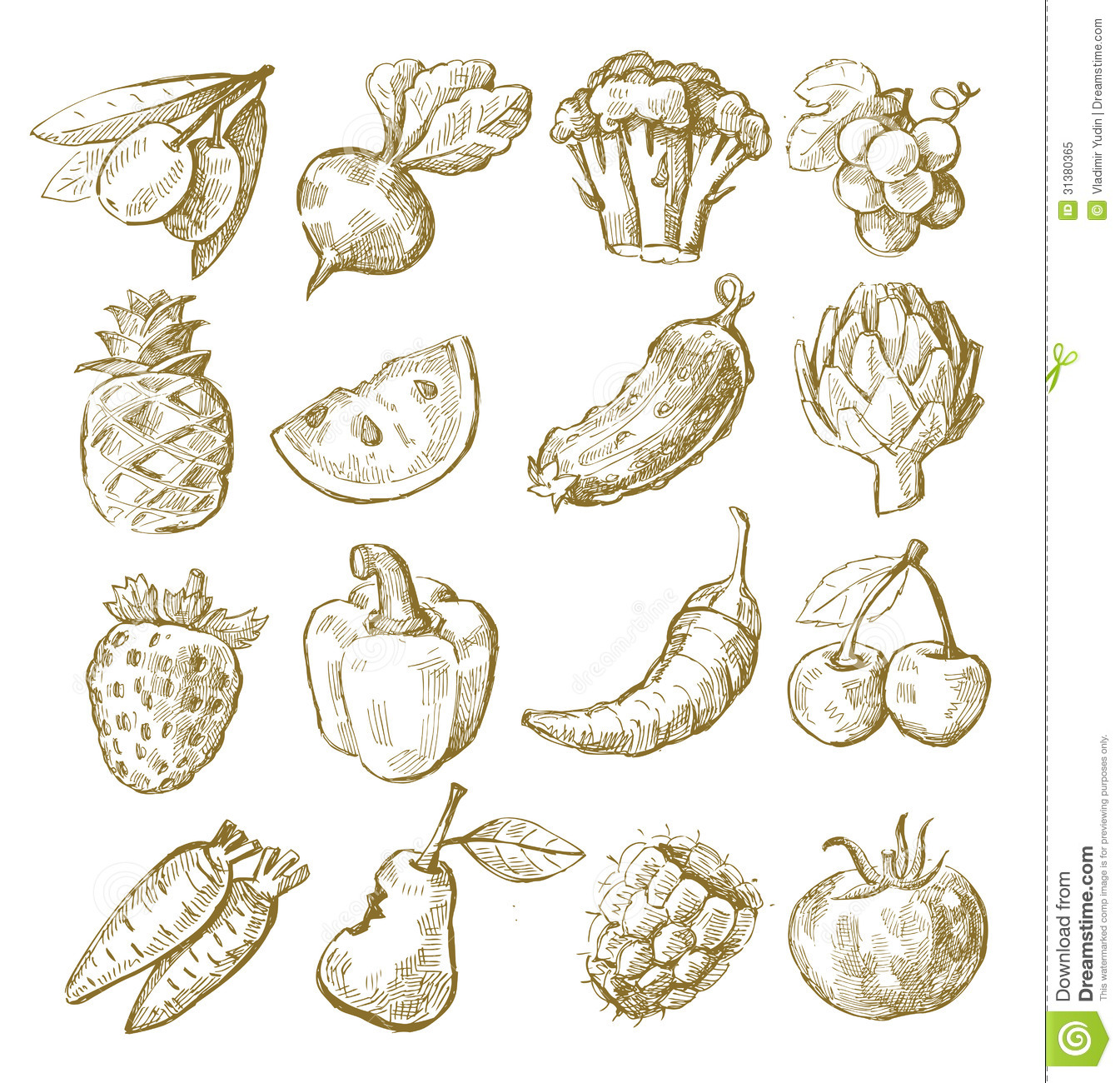Fruit And Vegetables Drawing at GetDrawingscom  Free for