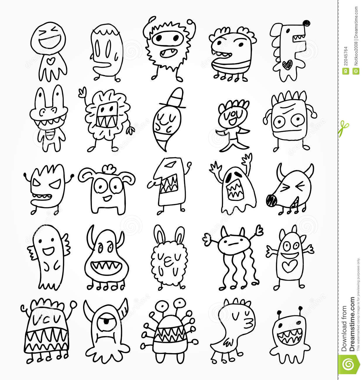 Hand Draw Ghost Element Stock Images Image 22045764