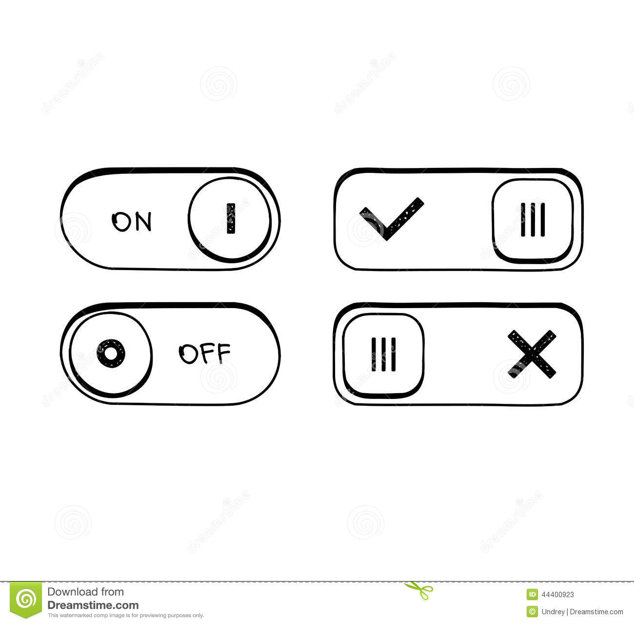 dorable toggle switch symbol collection
