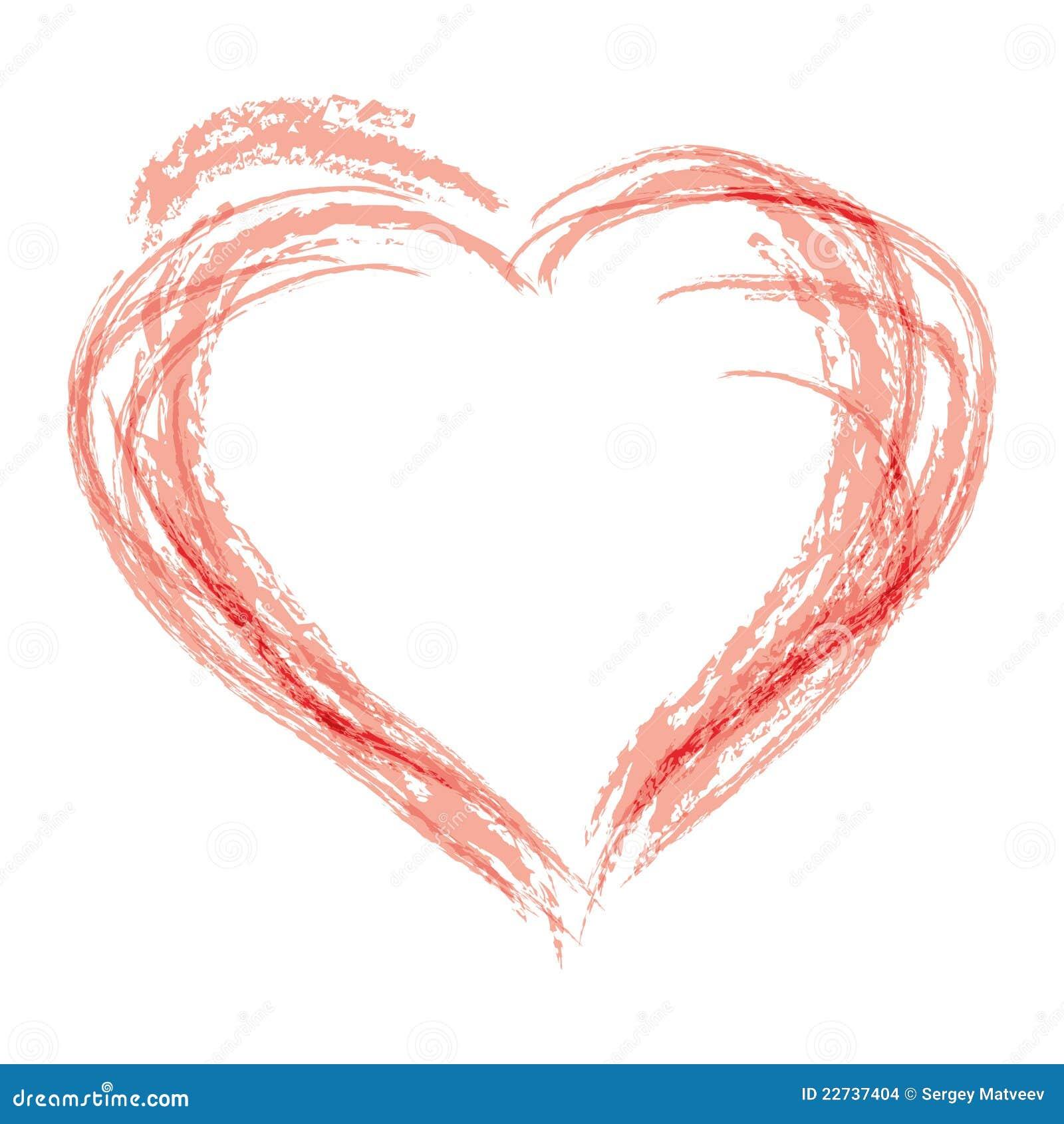 Hand Draw Heart Symbol Stock Vector Illustration Of Monotone 22737404