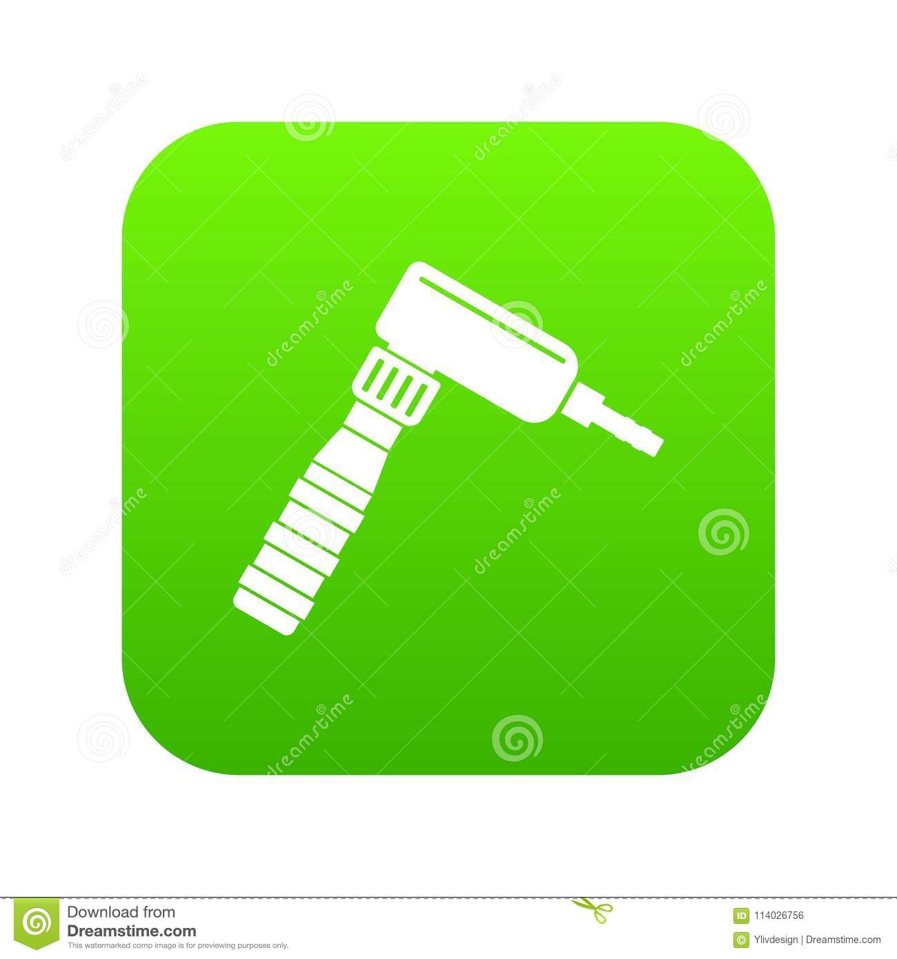 Hand Draw Rotary Tattoo Machine Icon Digital Green Stock Vector Diagram Download Illustration Of Electric