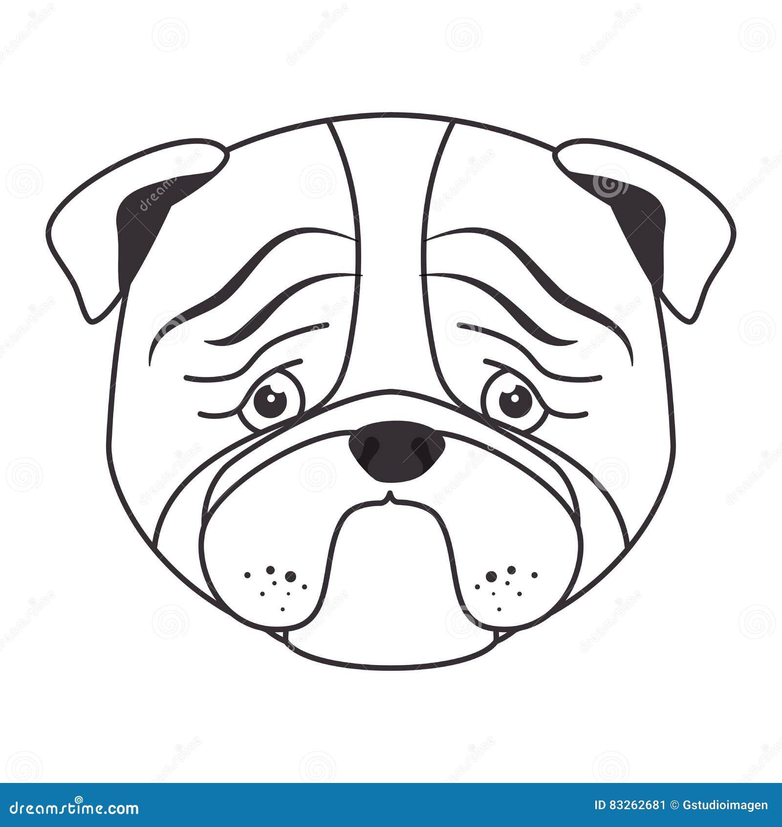hand draw sad face dog stock illustration image 83262681