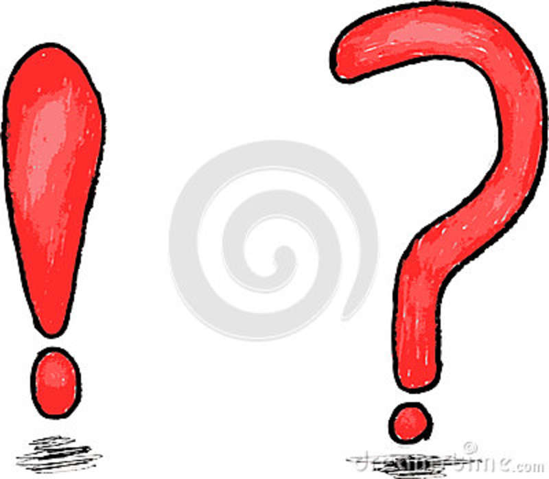 Scribble Drawing Question : Hand draw sketch question and exclamation mark cartoon