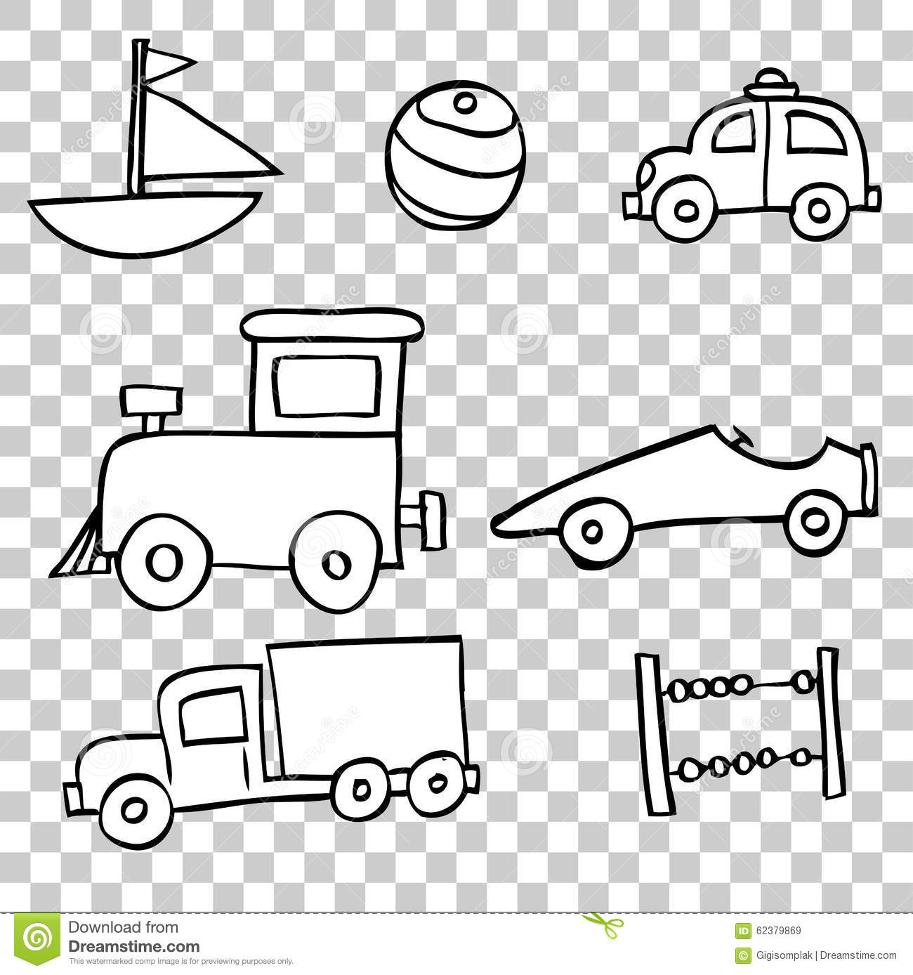 Baby Toys Drawing : Hand draw sketch of toddler toys boy stock vector