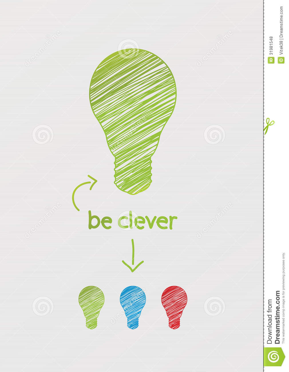 Scribble Drawing Website : Hand draw stylized llight bulb with arrow and space for