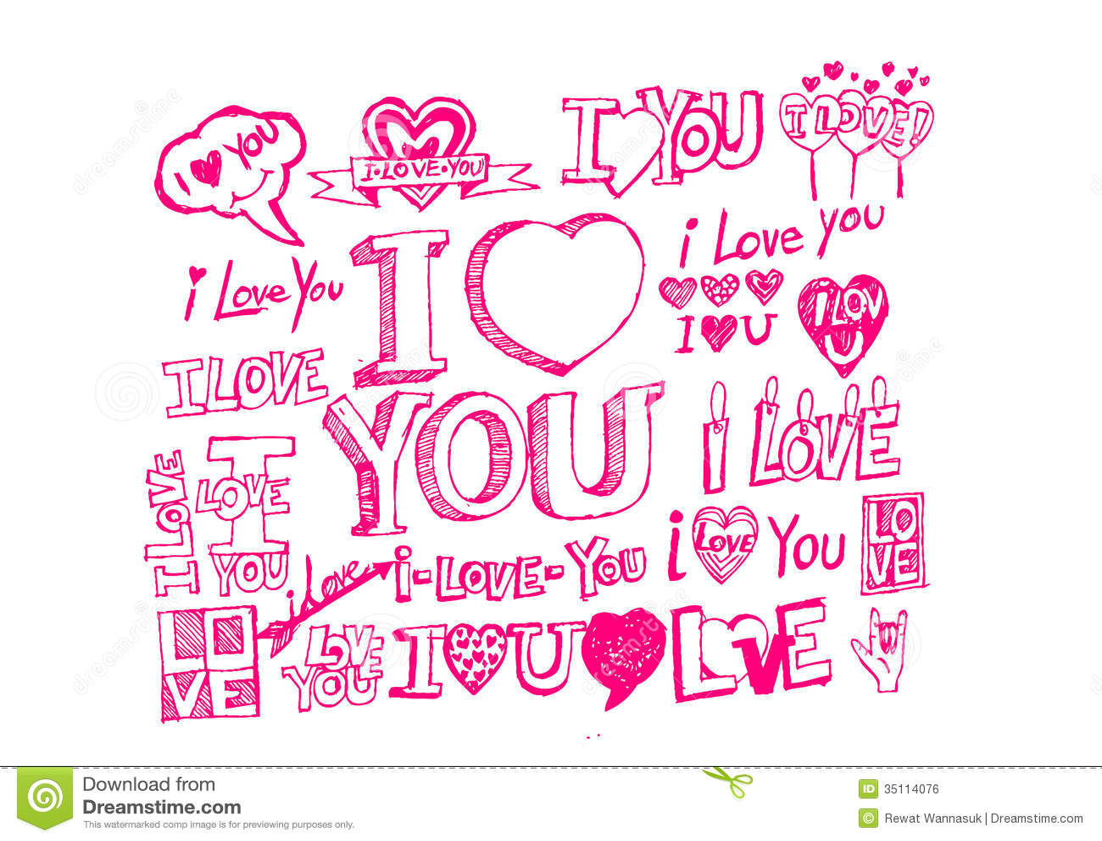 Hand Draw Valentine S Day Stock Illustration Illustration Of