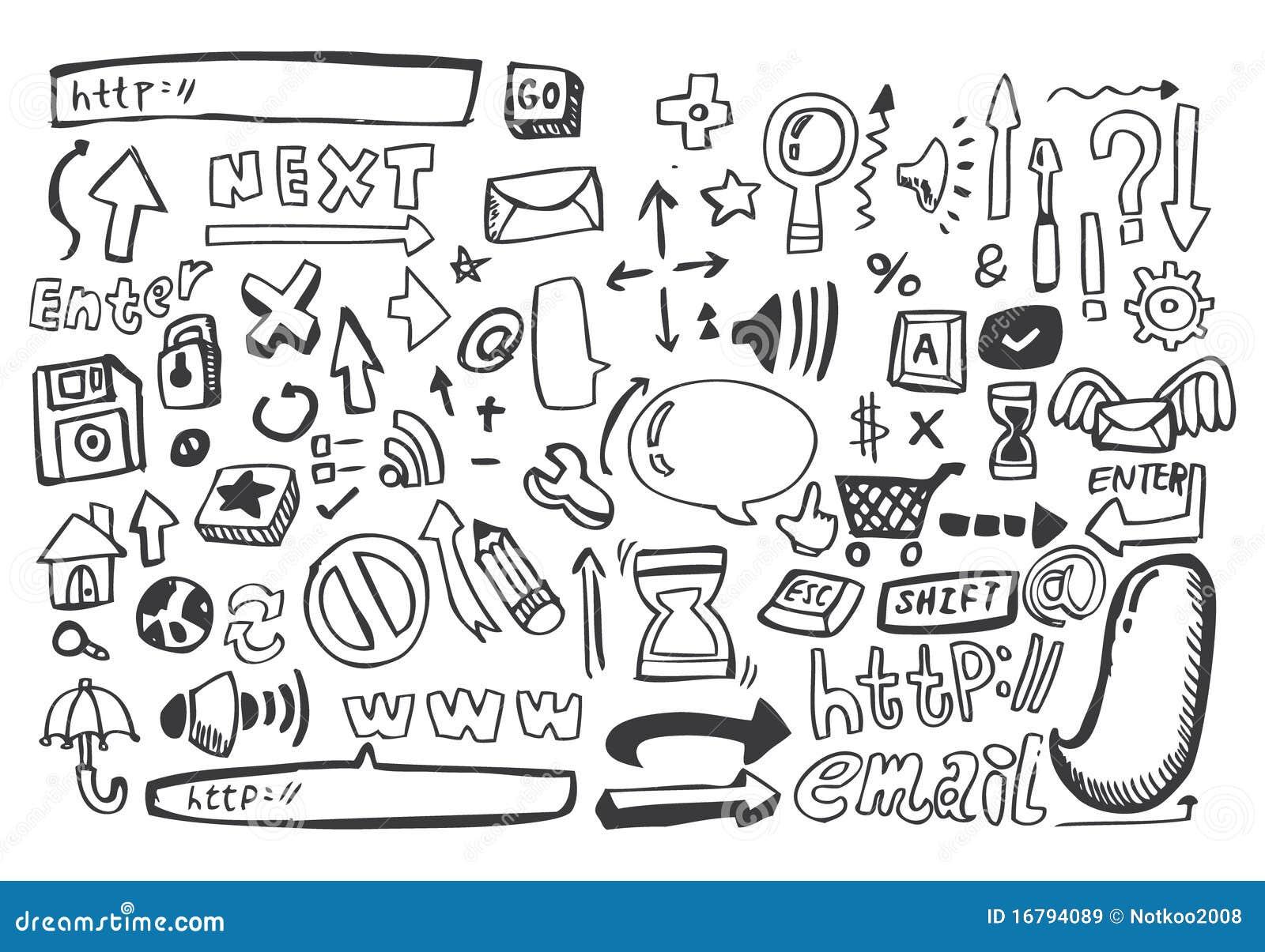 Hand Draw Web Icon Vector Illustration 16794089 Megapixl