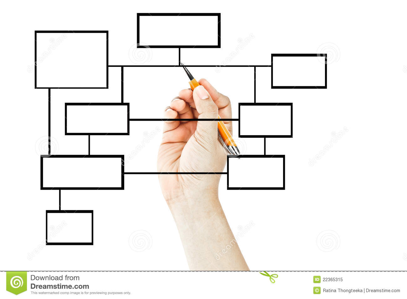 hand drawing blank business diagram royalty free stock photo    hand drawing blank business diagram