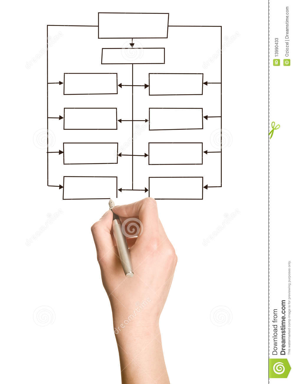 Hand Drawing Blank Organization Chart Photos Image 13990433 – Blank Organizational Chart