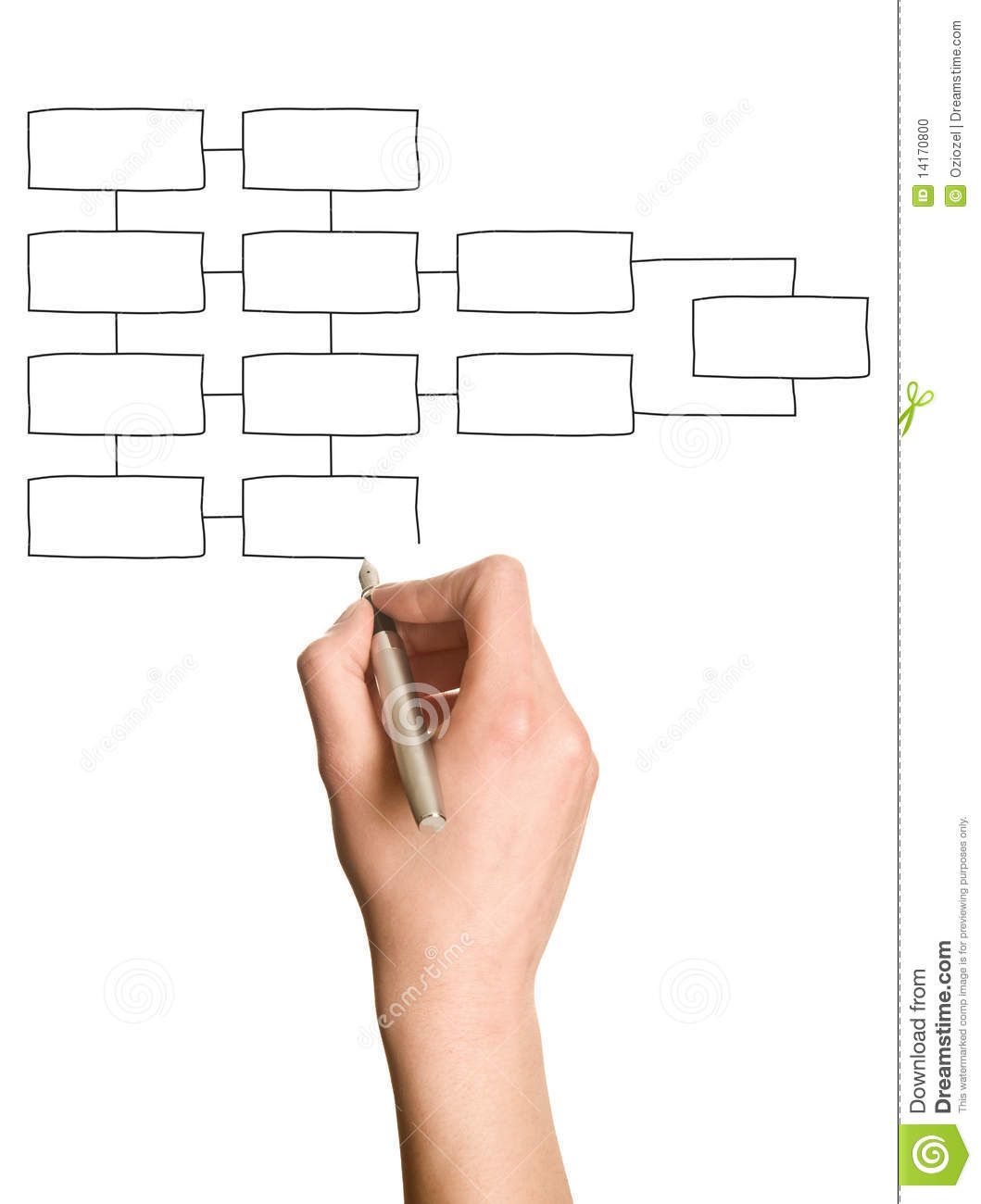 Hand Drawing Blank Organization Chart Photo Image 14170800 – Blank Organizational Chart