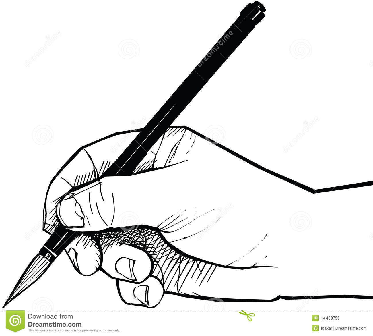 Hand Drawing With A Chinese Brush Stock Vector ...