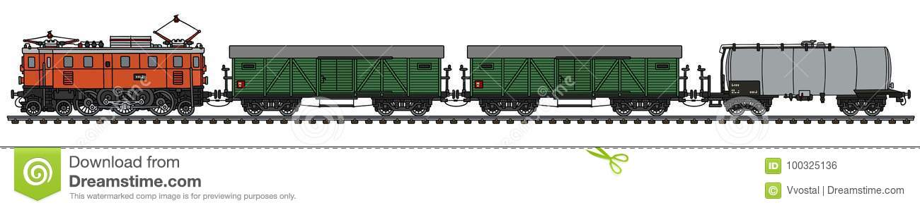 Old electric freight train