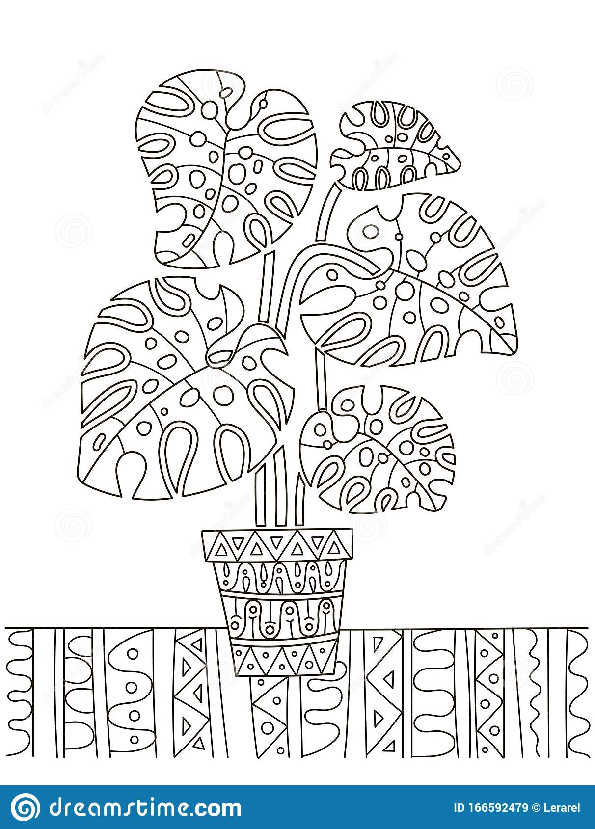 Flowers & vegetation - Coloring Pages for Adults | 1689x1212
