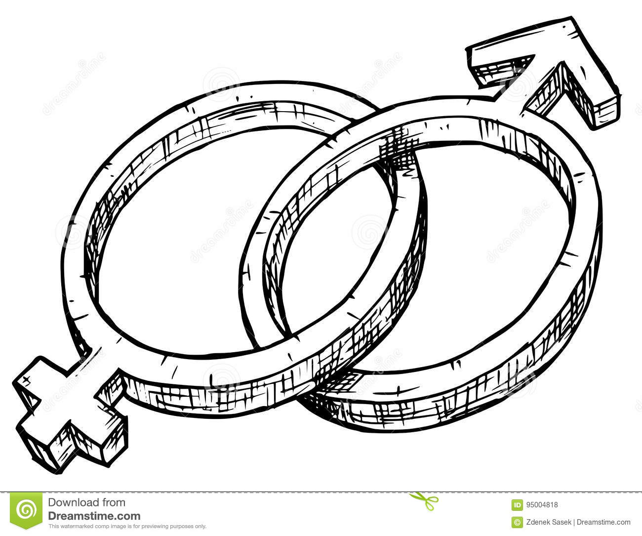 Hand drawing female and male symbol illustration stock vector hand drawing female and male symbol illustration community bisexual biocorpaavc Images