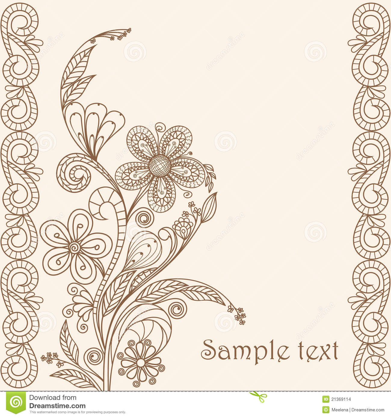 Download Hand Drawing Floral Pattern Stock Vector