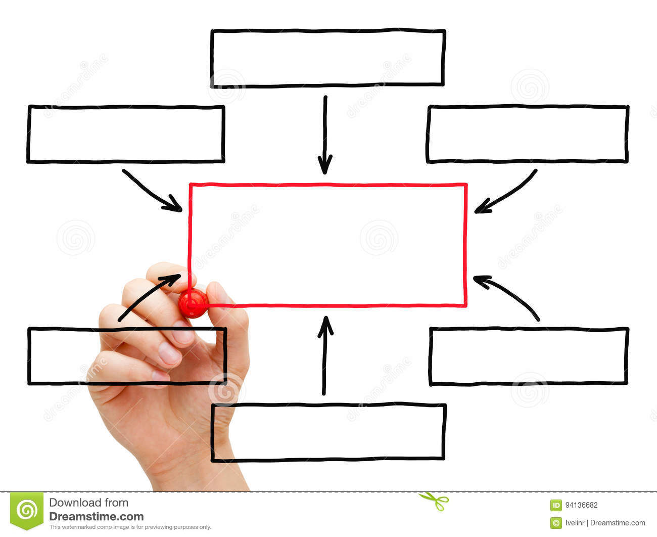 Hand Drawing Flow Chart Stock Photo Image Of Graph Flowchart