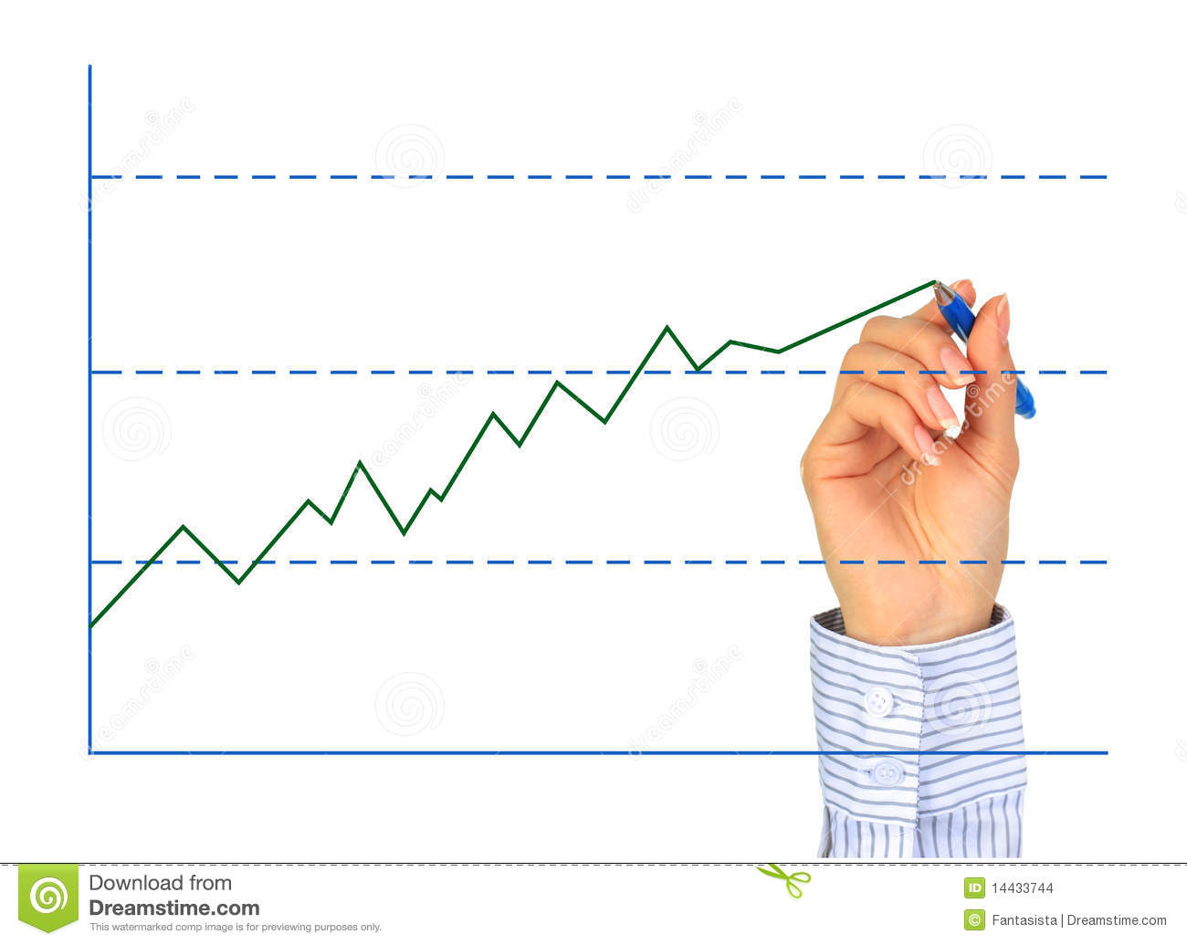 Drawing Line Graphs By Hand : Hand is drawing graph stock photo image of handwriting