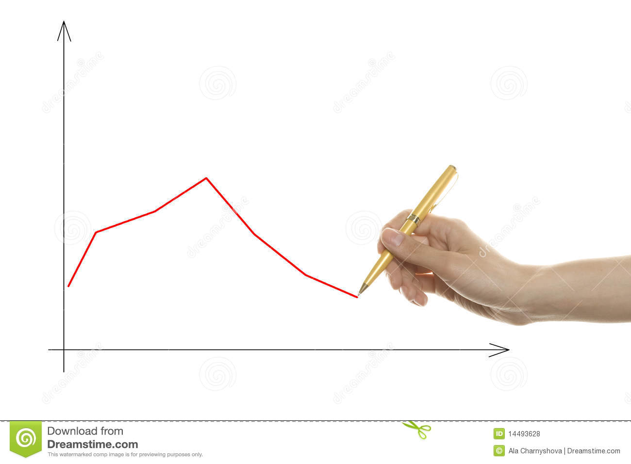 Drawing Line Graphs By Hand : Hand drawing graph stock photo image of improvement